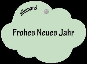 Frohes Neues Jahr en allemand