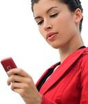 SMS envoyé par jeune femme