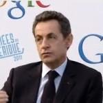 Nicolas Sarkozy au siège de Google France