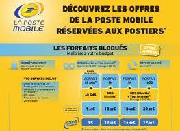 la poste mobile prix des forfaits téléphonie mobile